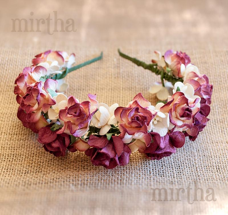 Diademas de flores para el pelo - Diadema Mirthashop