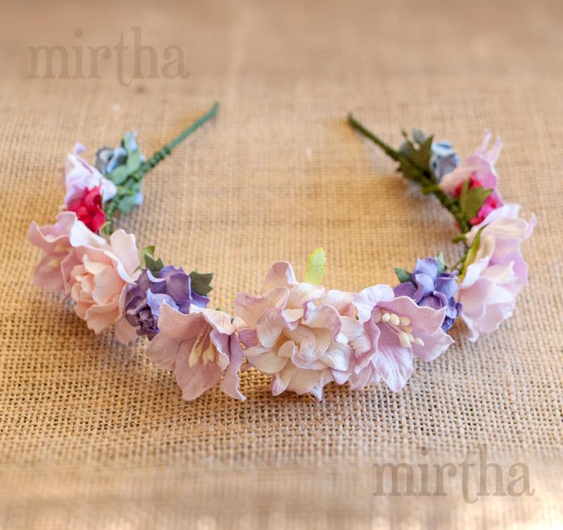 Diademas de flores diadema rainbow - Diademas de flores para nina ...