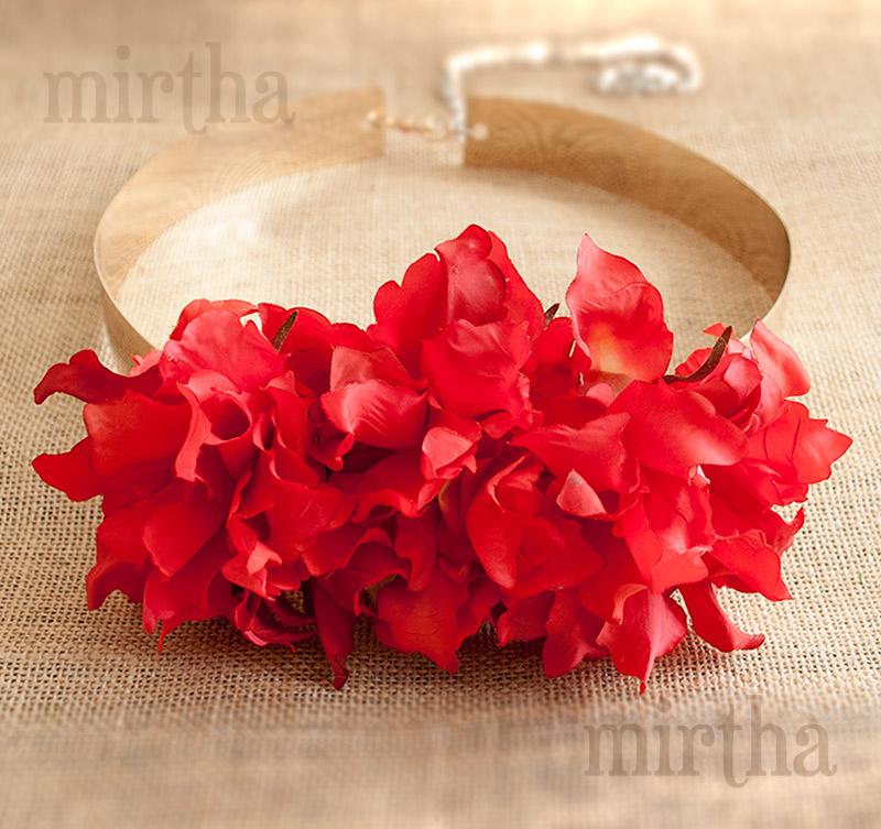 Cinturones de flores - Cinturón Versalles Rojo b742e389baf7