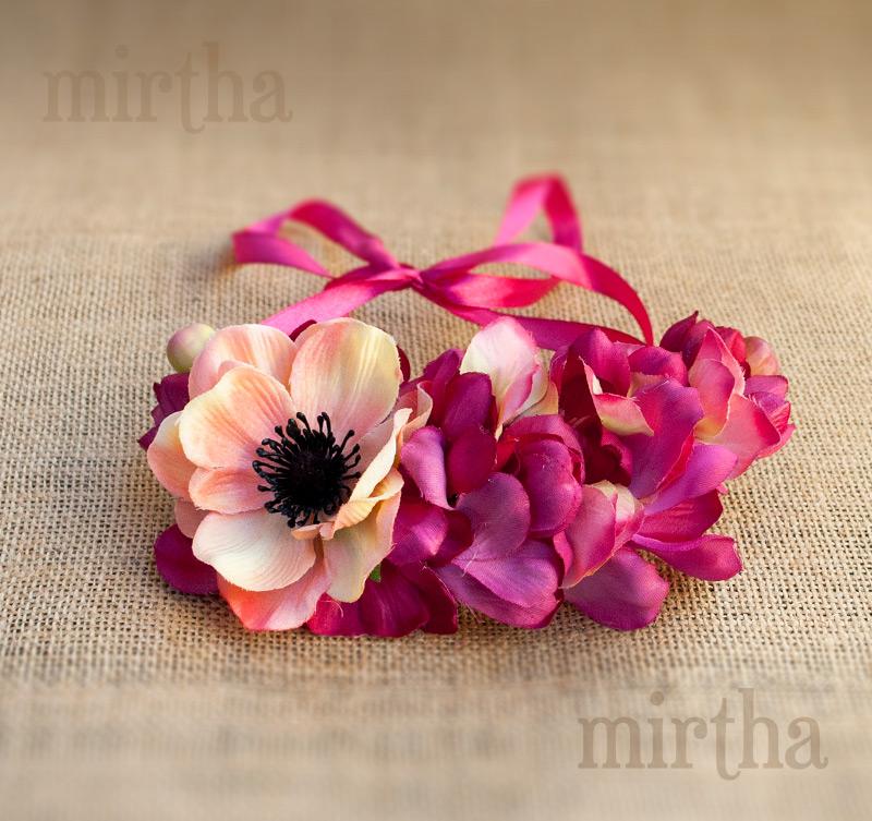 123306d8563b Collares de flores   Coral