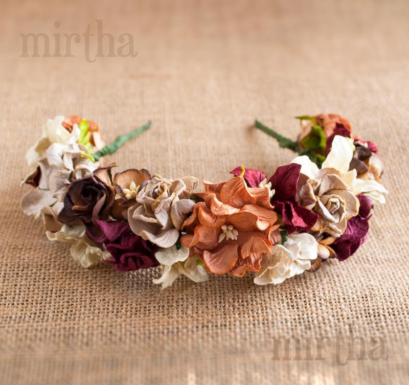 Diademas de flores  Diadema Wood d91c091f5aa