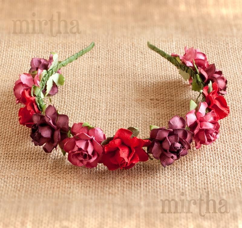 Diademas de flores: Diadema Frida