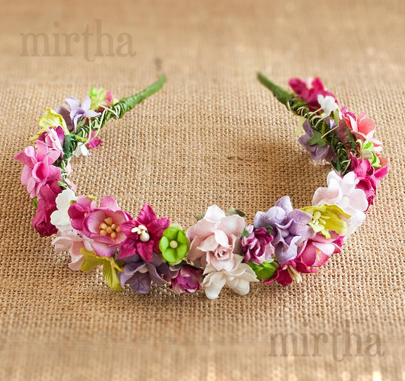 Diademas de flores diadema gea - Diademas de flores para nina ...