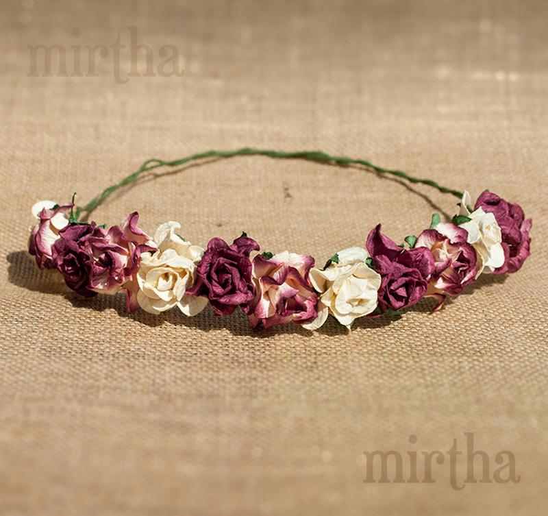 Coronas de flores corona granate - Coronitas de flores ...