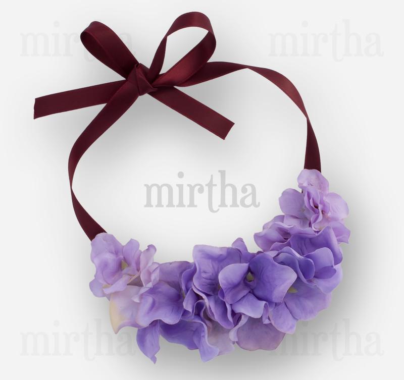 857582910365 Collares de flores   Lila