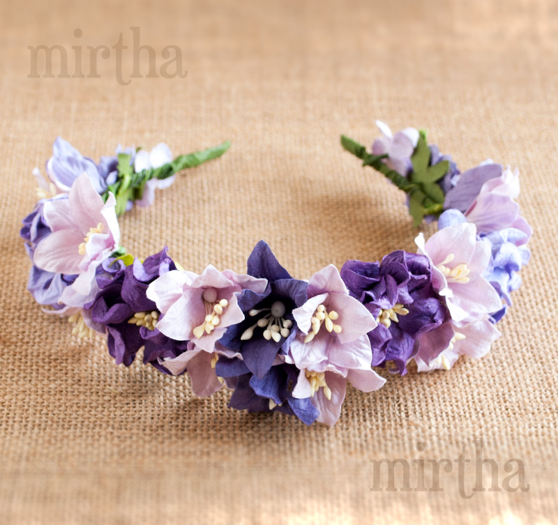 Diademas de flores - Diadema Purple