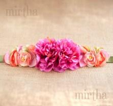 c9e80390 Cinturones de flores hechos a mano - Mirthashop