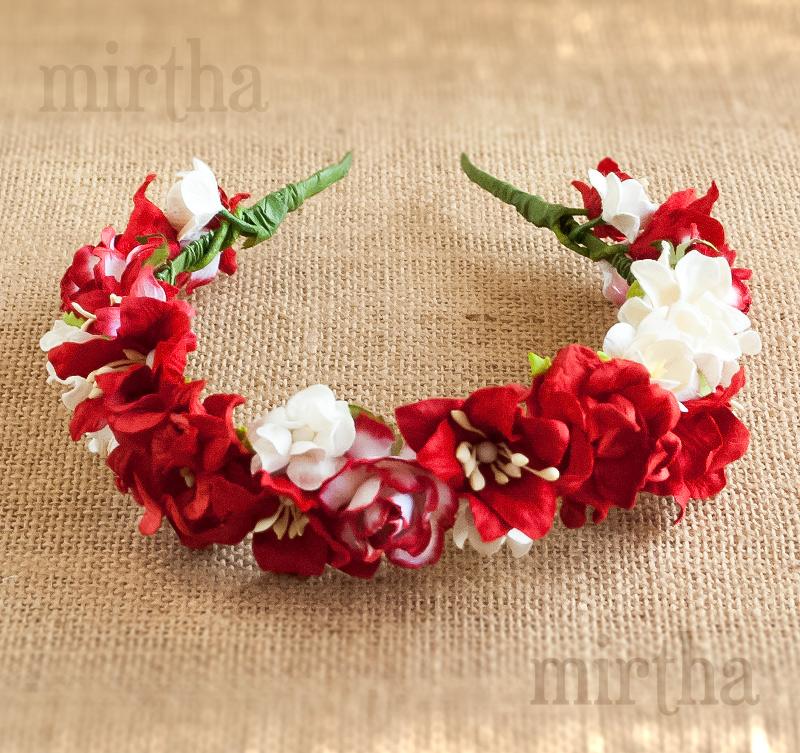 Diademas de flores - Diadema Rouge